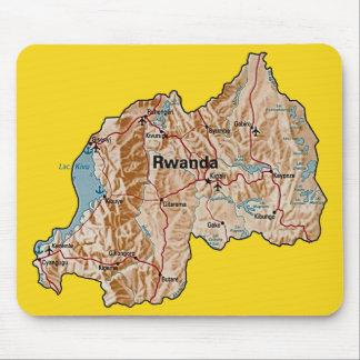 Rwanda Map Mousepad