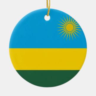 Rwanda National World Flag Ceramic Ornament