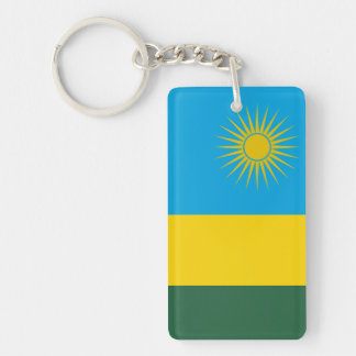 Rwanda National World Flag Keychain