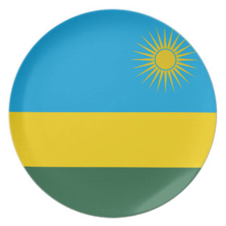 Rwanda National World Flag Plate