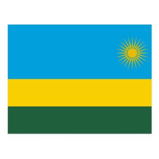 Rwanda National World Flag Postcard