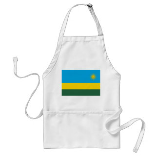 Rwanda National World Flag Standard Apron