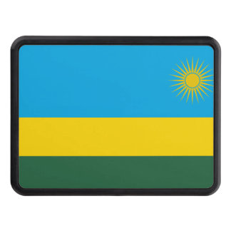Rwanda National World Flag Trailer Hitch Cover