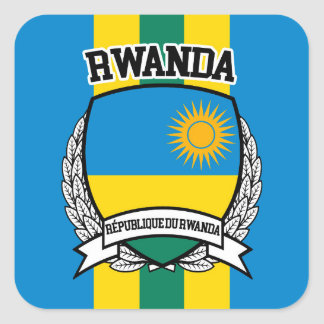 Rwanda Square Sticker