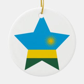 Rwanda Star Ceramic Ornament
