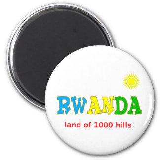 Rwanda, the Land of 1000 hills Magnet