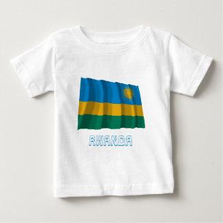 Rwanda Waving Flag with Name Baby T-Shirt