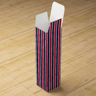 RWB BASEBALL COORD STRIPES 1-WINE GIFT BOX WINE BOTTLE BOX
