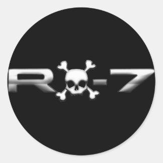 RX7 with a skull Round Sticker