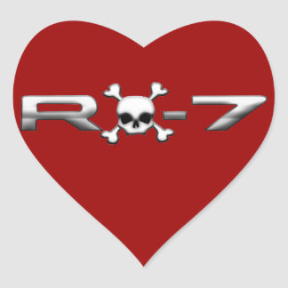 RX7 with a skull Heart Sticker