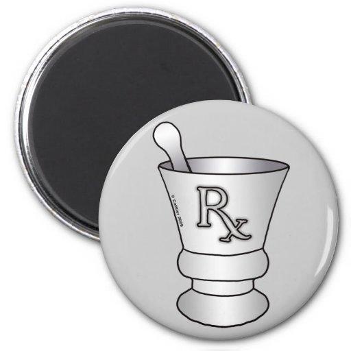 RX Mortar Pestle Fridge Magnet