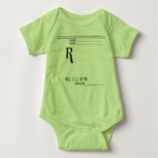 Rx Prescription Pad - Write Your Own Prescription! Baby Bodysuit
