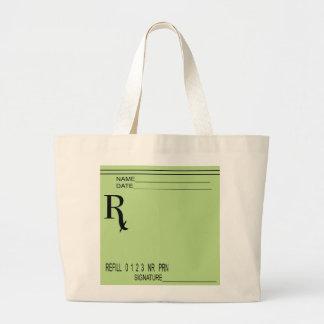 Rx Prescription Pad - Write Your Own Prescription! Large Tote Bag