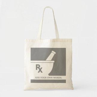 Rx Symbol Pharmacology Mortar and Pestle Custom Tote Bag