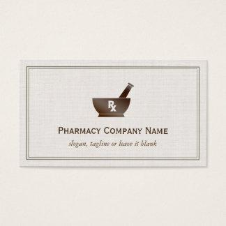 RX Symbol Pharmacy Chemist Company - Classic Linen Business Card