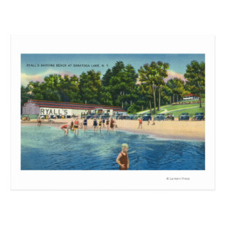 Ryall's Bathing Beach at Saratoga Lake View Postcard
