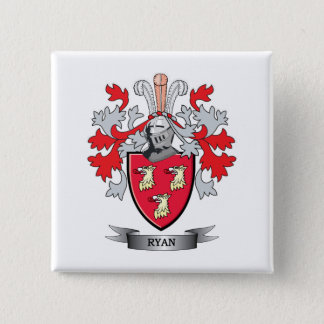 Ryan Coat of Arms 2 Inch Square Button