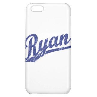 Ryan Distressed Blue Script Logo Case For iPhone 5C