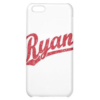 Ryan Distressed Red Script Logo iPhone 5C Cases