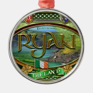 Ryan Family Banner Metal Ornament