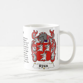 Ryan Family Coat of Arms Mug