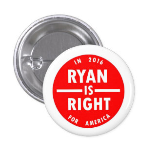 Ryan is Right 1 Inch Round Button