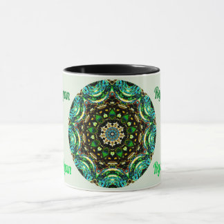 RYAN ~ Personalised Paua Shell Fractal ~ Mug