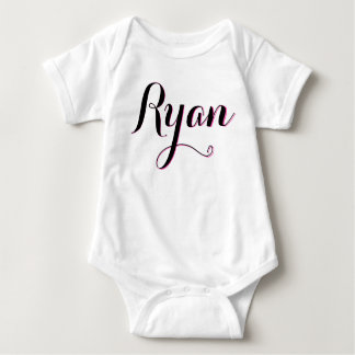 Ryan pink and white girls baby outfit baby bodysuit