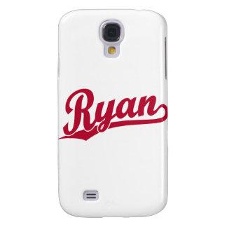 Ryan Red Script Logo Galaxy S4 Cover