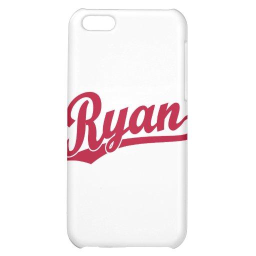 Ryan Red Script Logo iPhone 5C Case