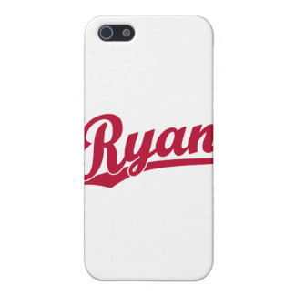 Ryan Red Script Logo Cases For iPhone 5