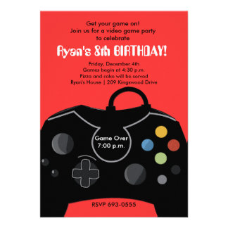 RYAN S VIDEO GAME PARTY INVITATIONS