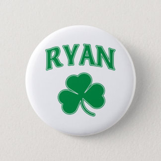 Ryan Shamrock 2 Inch Round Button