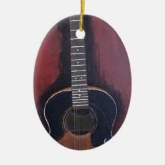 Ryan's Guitar Ceramic Oval Ornament
