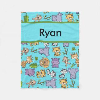 Ryan's Personalized Jungle Blanket