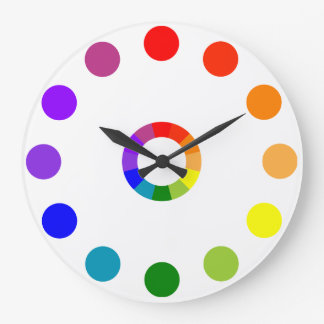 RYB Color Wheel Numberless Clocks