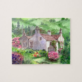 Rydal Mount, William Wordsworth Home Watercolour Jigsaw Puzzle