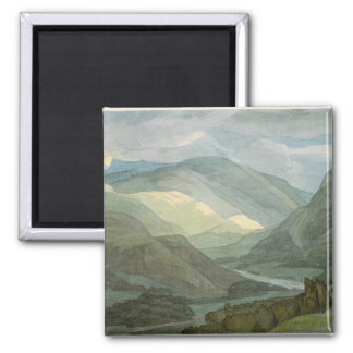 Rydal Water, 1786 (w/c) Square Magnet