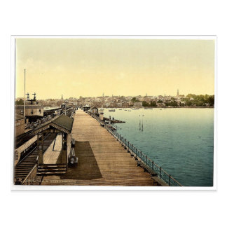 Ryde, from pier, Isle of Wight, England rare Photo Postcard