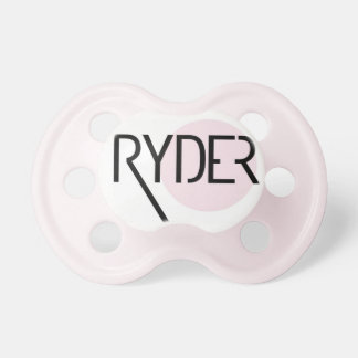 """Ryder"" Personalized Name Pacifier"