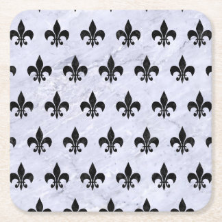 RYL1 BK-WH MARBLE SQUARE PAPER COASTER