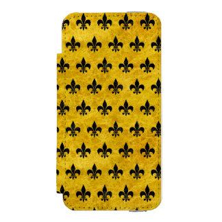 RYL1 BK-YL MARBLE INCIPIO WATSON™ iPhone 5 WALLET CASE
