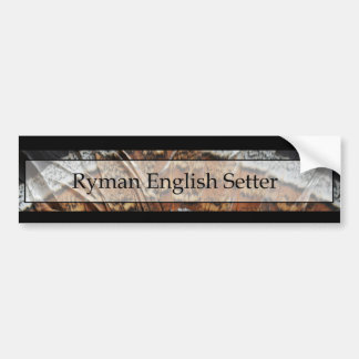 Ryman English Setter Bumper Sticker