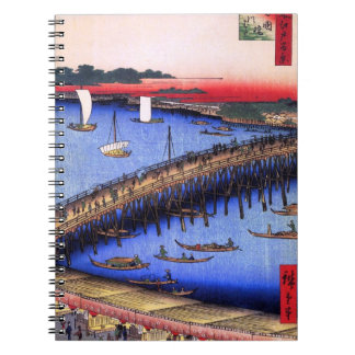 Ryōgoku Bridge and the Great Riverbank (両国橋大川ばた) Notebook