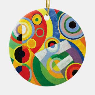 Rythme Joie de Vivre by Robert Delaunay Ceramic Ornament