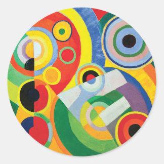 Rythme Joie de Vivre by Robert Delaunay Classic Round Sticker