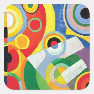 Rythme Joie de Vivre by Robert Delaunay Square Sticker