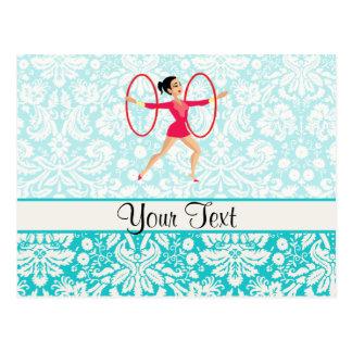 Rythmic Gymnastics Hoops Postcard