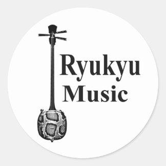 RyukyuMusic Classic Round Sticker