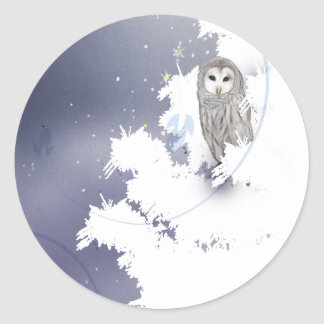 S003 Winter Owl Sticker